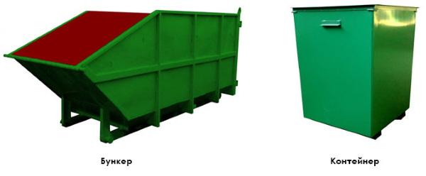 Бункер и контейнер
